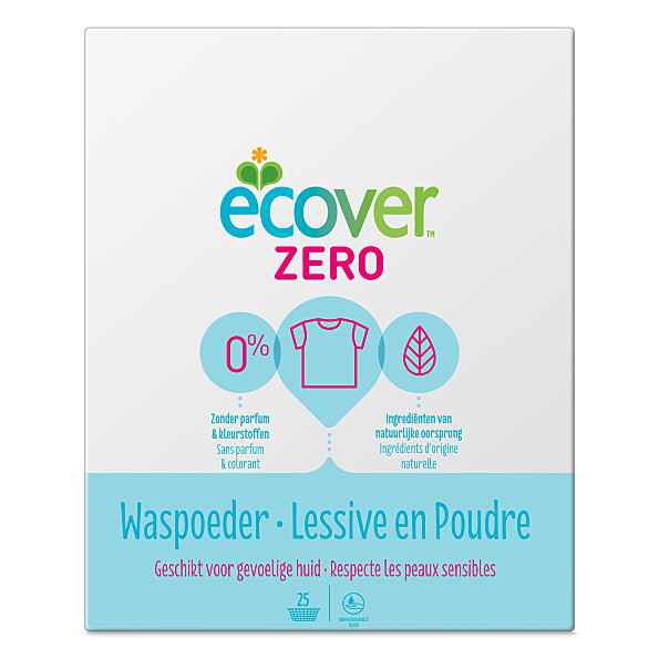 lessive en poudre zero 1 875kg ecover. Black Bedroom Furniture Sets. Home Design Ideas